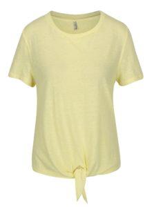 Žlté tričko s uzlom ONLY Uma