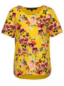Žlté kvetované voľné tričko French Connection Linosa
