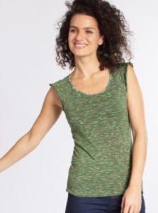Zelené melírované tričko s volánmi Blutsgeschwister