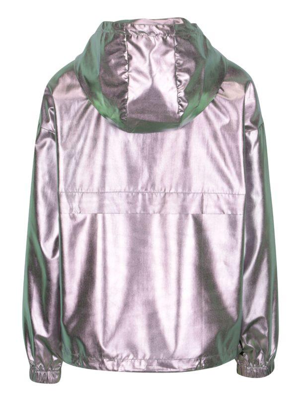 Dámska metalická bunda v striebornej farbe ONLY Cool Metallic