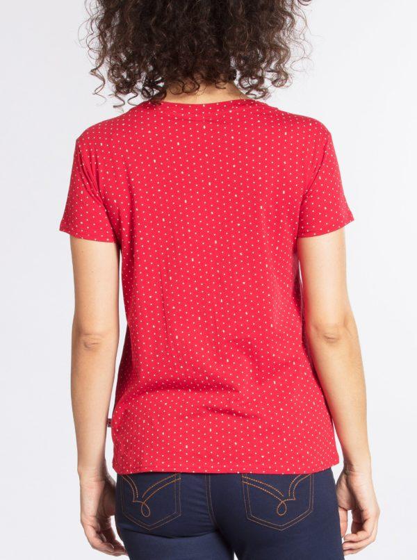 Červené vzorované tričko Blutsgeschwister