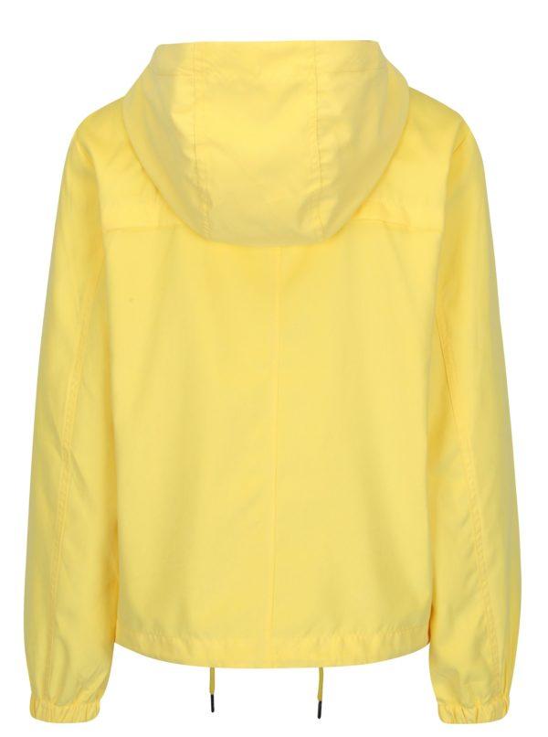 Žltá bunda s kapucňou Jacqueline de Yong Shine