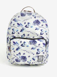 Krémový dámsky batoh s kvetovanou potlačou The Pack Society 18 l