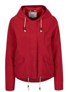 Červená bunda s kapucňou ONLY New Skylar