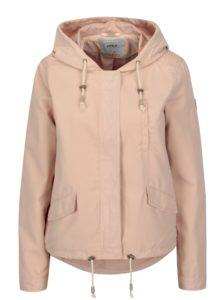 Svetloružová bunda s kapucňou ONLY New Skylar