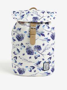 Krémový dámsky batoh s kvetovanou potlačou The Pack Society 10 l