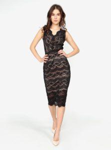 79e368190acb Béžovo–čierne puzdrové čipkované šaty Oasis Sexy