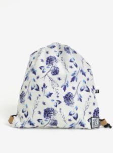 Krémový dámsky vak s kvetovanou potlačou The Pack Society
