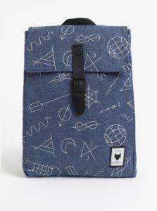 Modrý batoh s vyšitými vzormi 18l The Pack Society