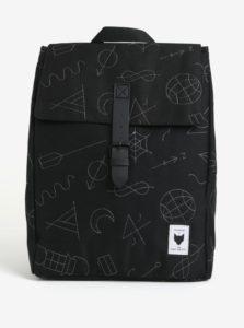 Čierny batoh s vyšitými vzormi The Pack Society