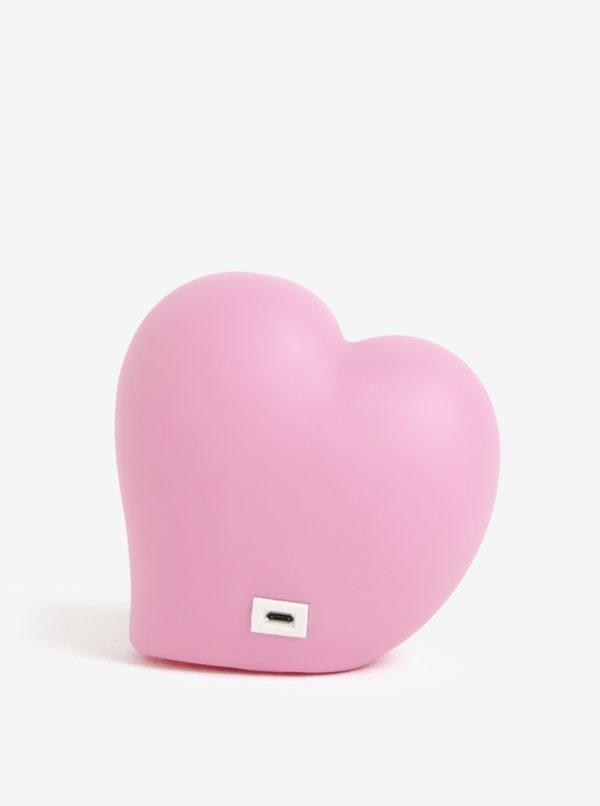 Ružová LED lampa v tvare srdca Disaster Heart