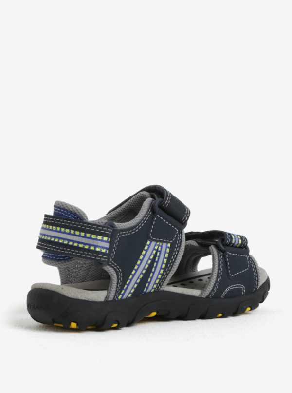 Modro-čierne chlapčenské sandále Geox Strada