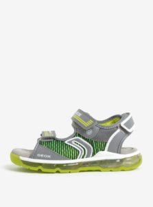 ee2486f83fe3d Zeleno-sivé chlapčenské svietiace sandále Geox Android