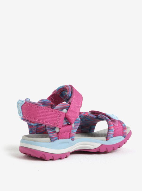 Modro-ružové dievčenské sandále Geox Borealis