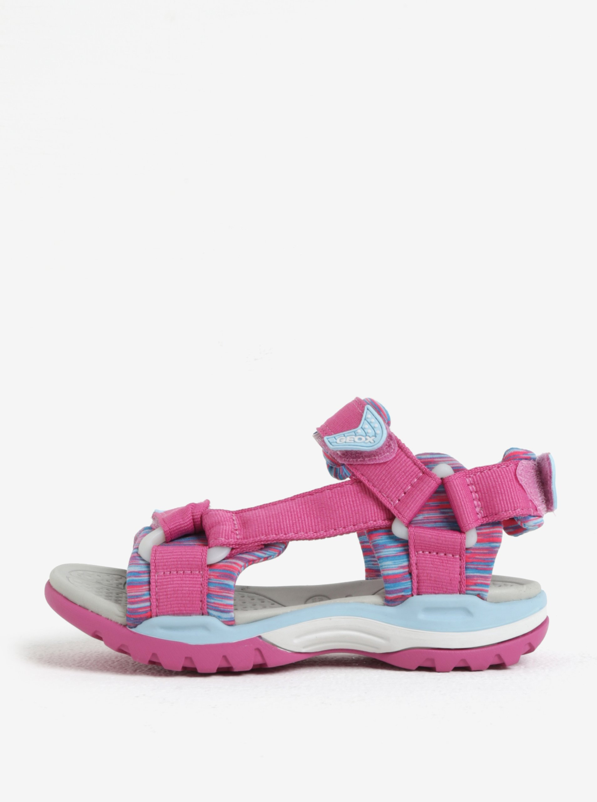 0b1a689bc642 Modro-ružové dievčenské sandále Geox Borealis