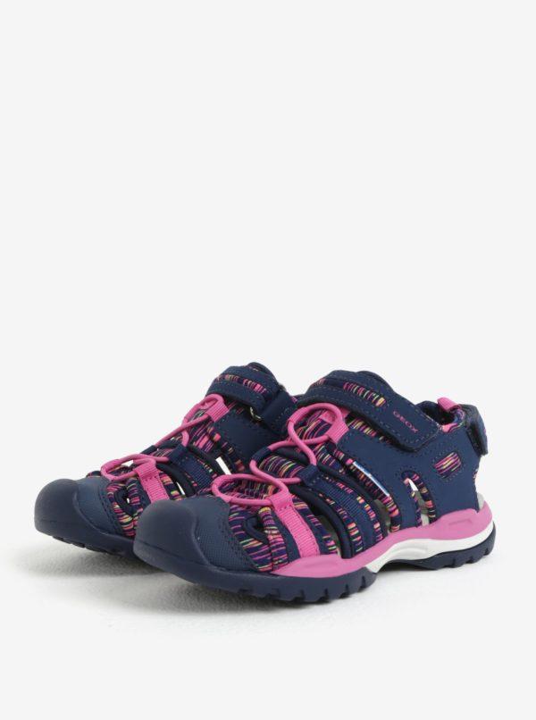 8bbf4fb10658 Ružovo-modré dievčenské sandále Geox Borealis