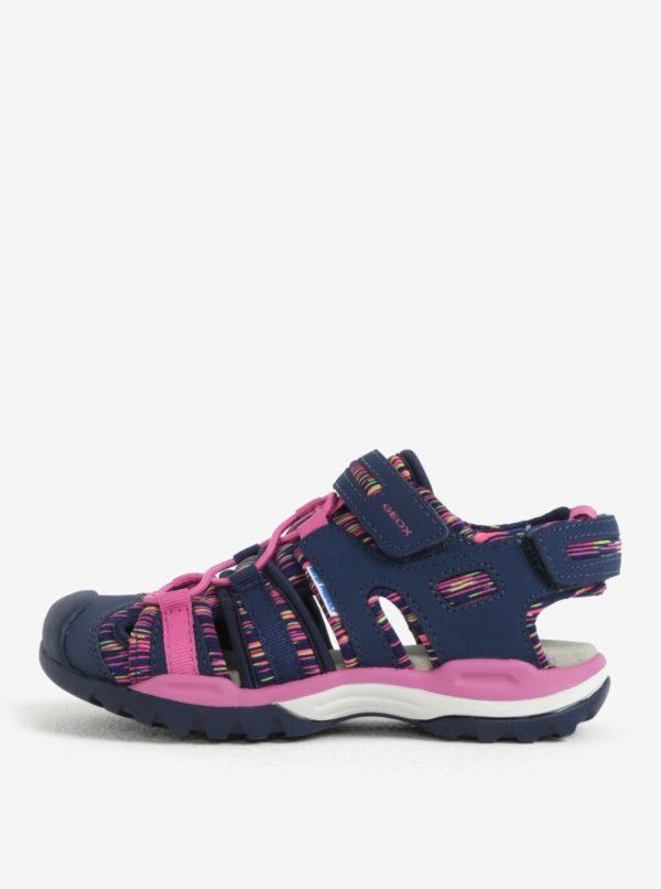 Ružovo-modré dievčenské sandále Geox Borealis