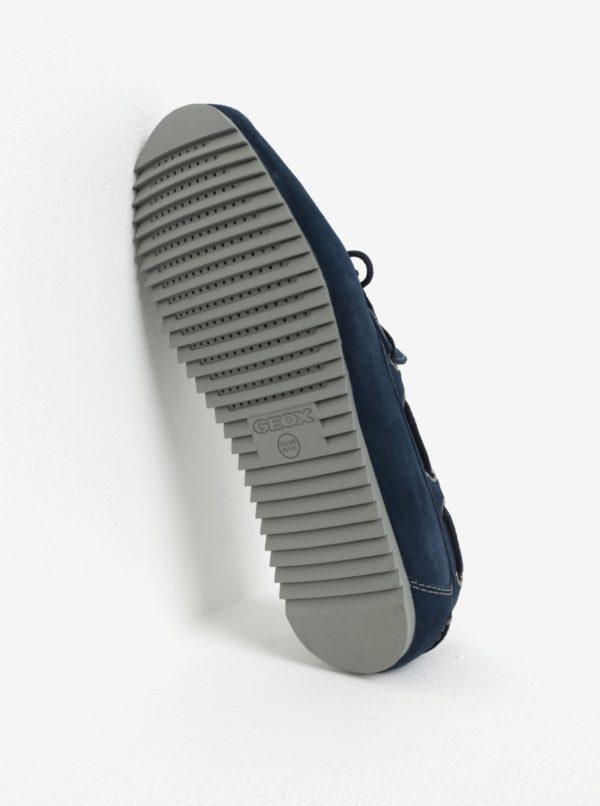 Modré pánske semišové mokasíny Geox Mary Shark