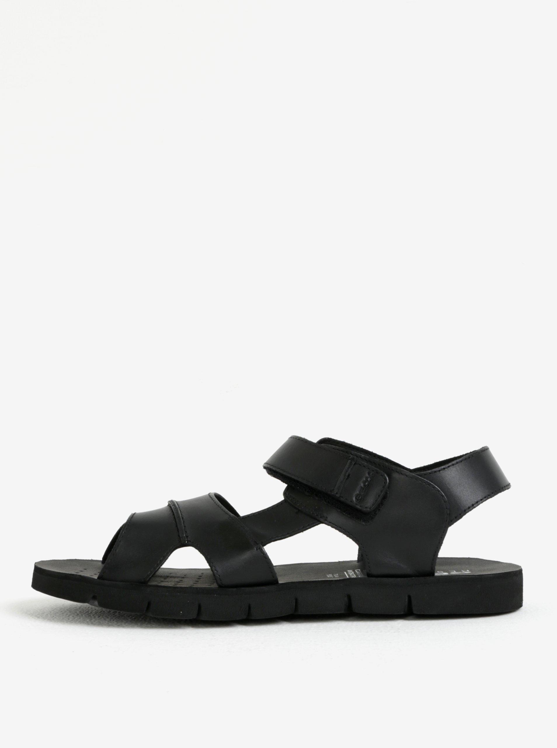 b24df3e770ee Čierne pánske kožené sandále Geox Marry Glenn