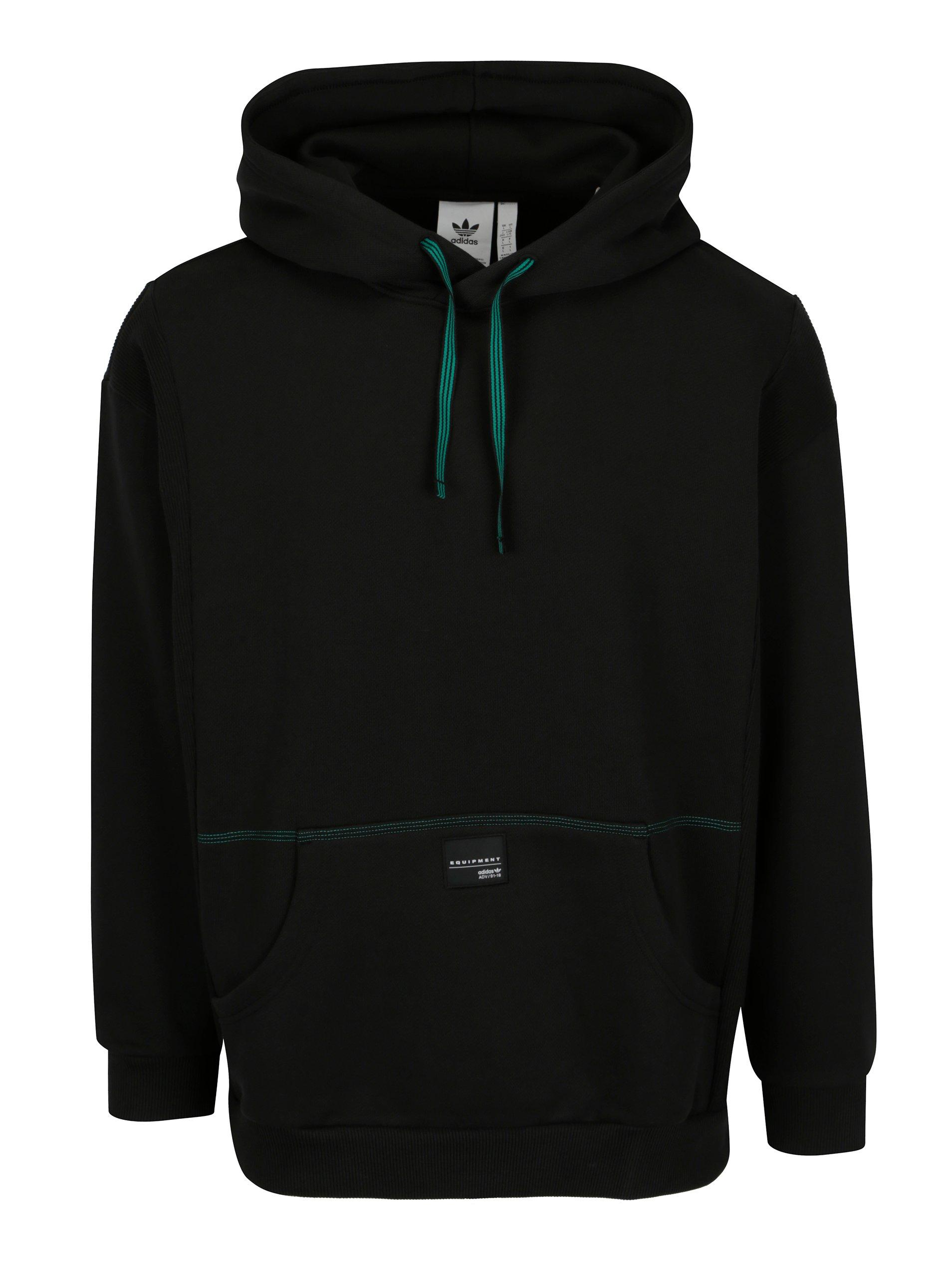 Čierna pánska mikina s kapucňou adidas Originals  335b10e6d99