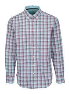 Ružovo-biela casual fit károvaná košeľa Fynch-Hatton
