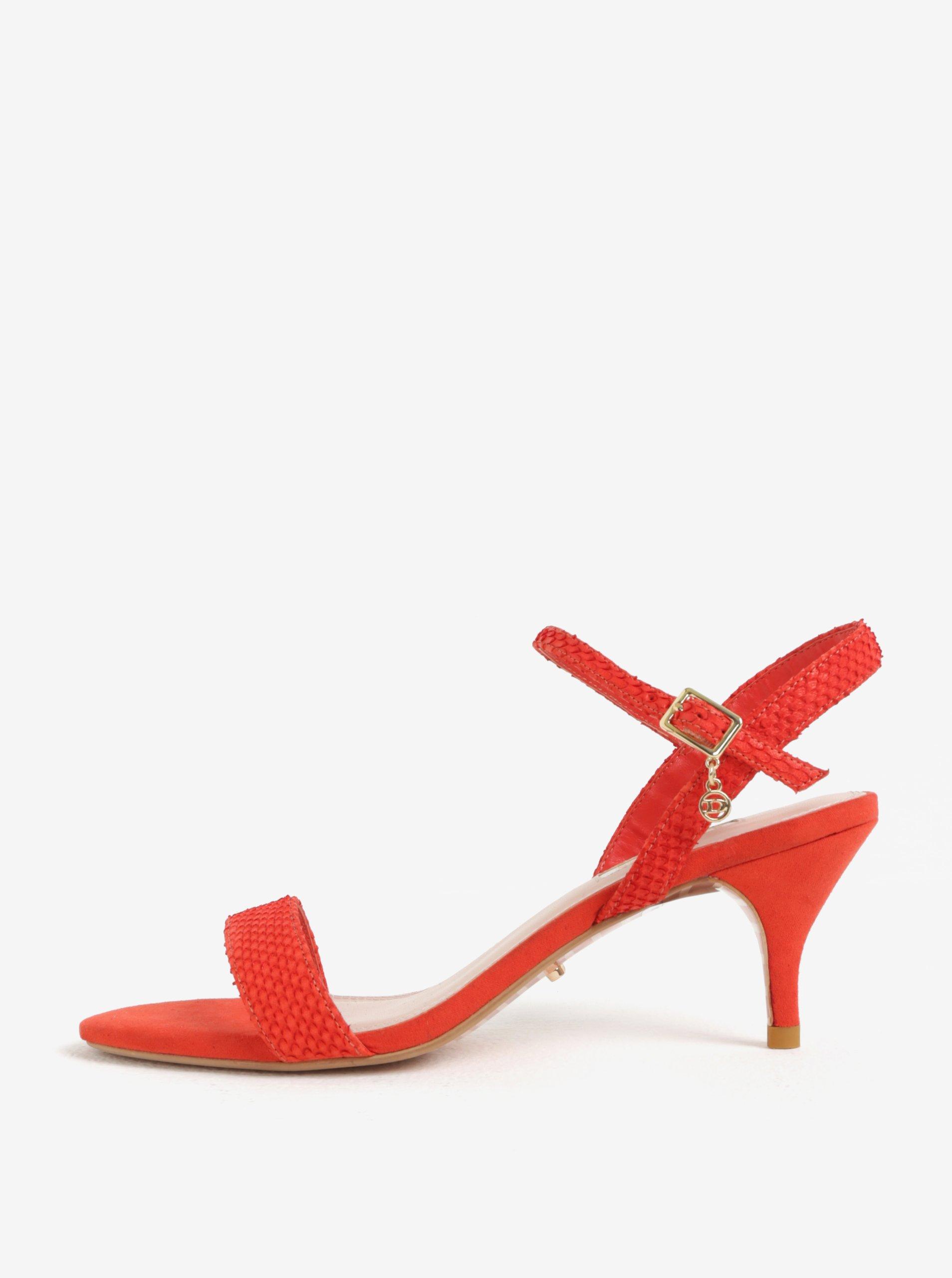 8e69e24267b76 Červené sandálky na ihlovom podpätku Dune London Monnrow | Moda.sk