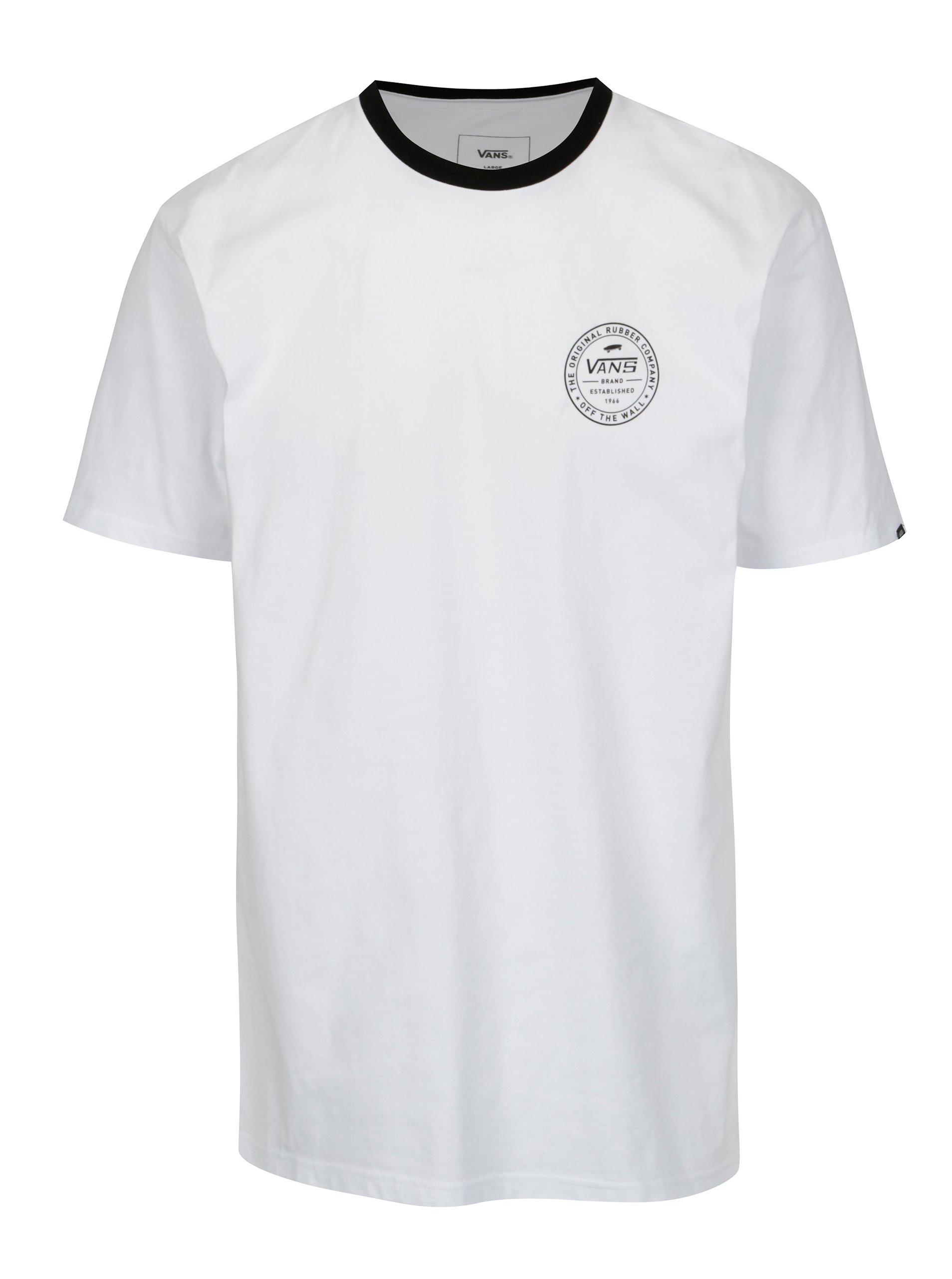 63458e96c Čierno-biele pánske tričko VANS Established | Moda.sk