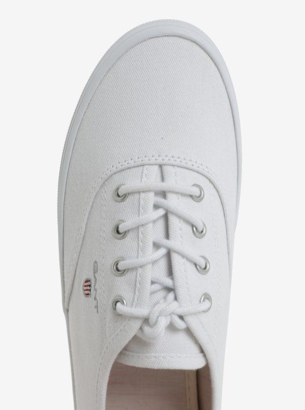 Biele dámske plátenné tenisky GANT New Haven