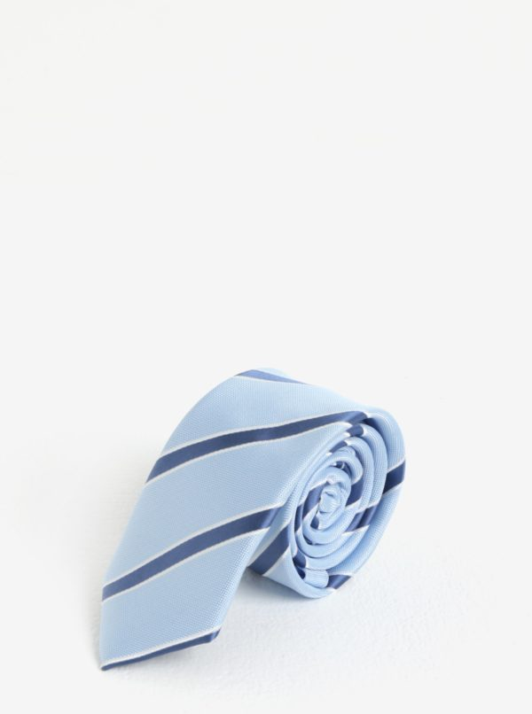Svetlomodrá pruhovaná kravata Burton Menswear London