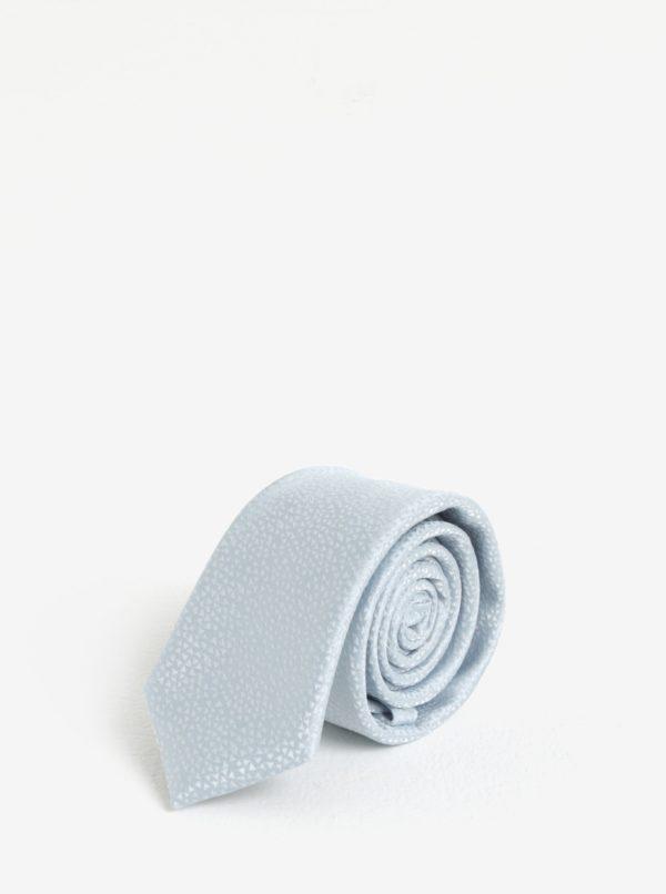 Svetlomodrá vzorovaná kravata Burton Menswear London
