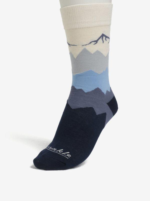 Tmavomodré unisex ponožky s motívom hôr Fusakle Kriváň