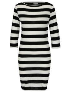 Čierno-krémové pruhované šaty Jacqueline de Yong Bug