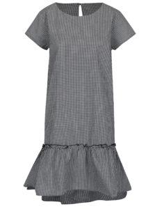 Krémovo-čierne kockované šaty s volánom Jacqueline de Yong Boost