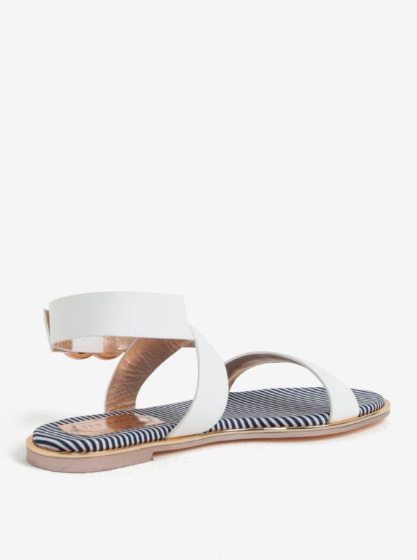 Biele dámske kožené sandále Ted Baker Qereda
