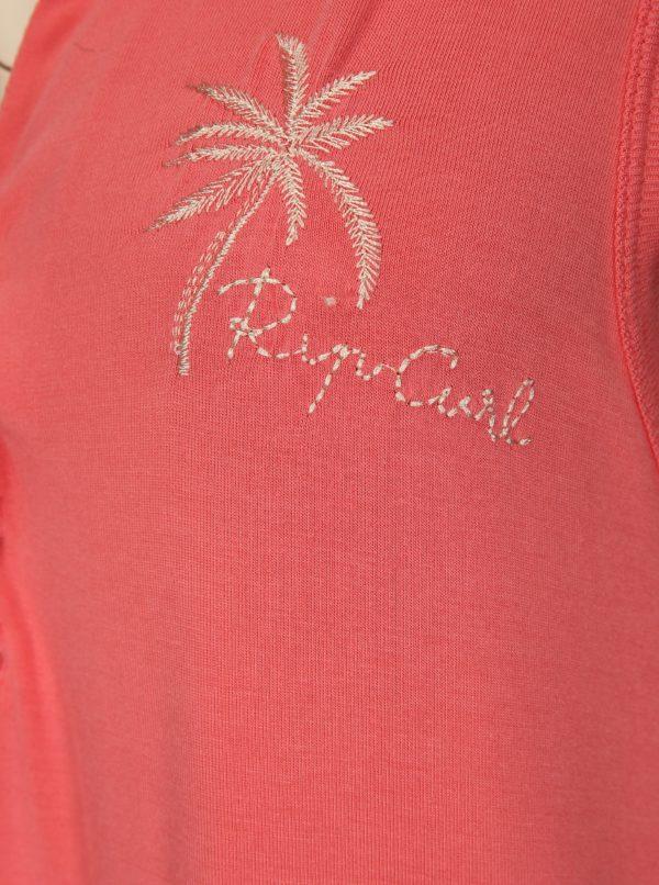 Koralové šaty so šnurovaním Rip Curl