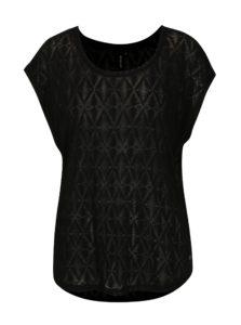 Čierne dámske priesvitné tričko s aztéckym vzorom Rip Curl