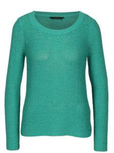 Tyrkysový pletený priesvitný sveter ONLY Geena