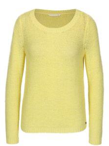 Žltý priesvitný pletený sveter ONLY Geena