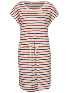 Krémové pruhované šaty s krátkym rukávom ONLY May
