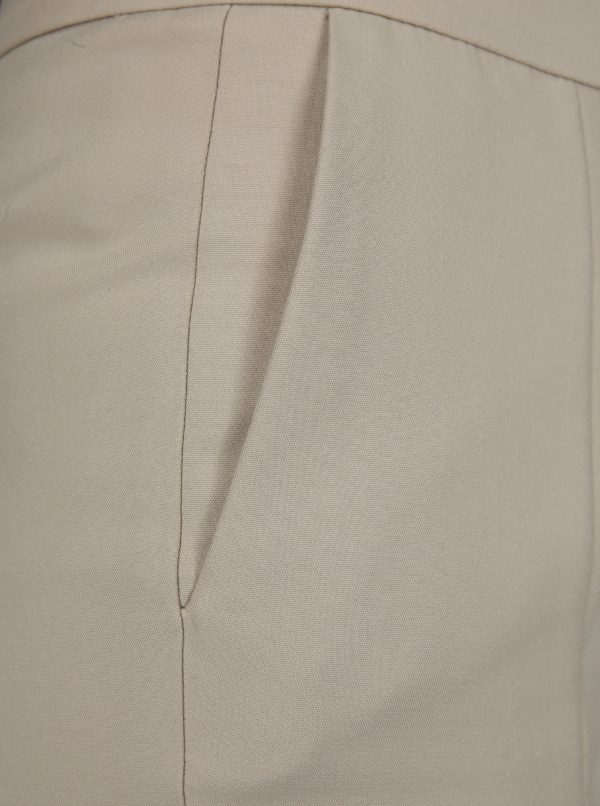Béžové nohavice Selected Femme Muse