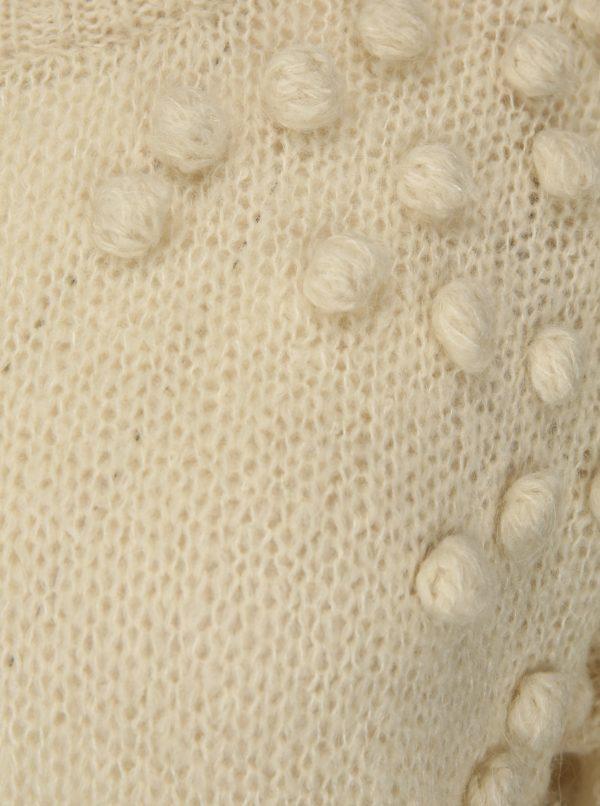 Béžový sveter s prímesou mohéru Selected Femme Nora