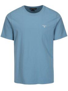 Svetlomodré tailored fit basic tričko Barbour Sports Tee