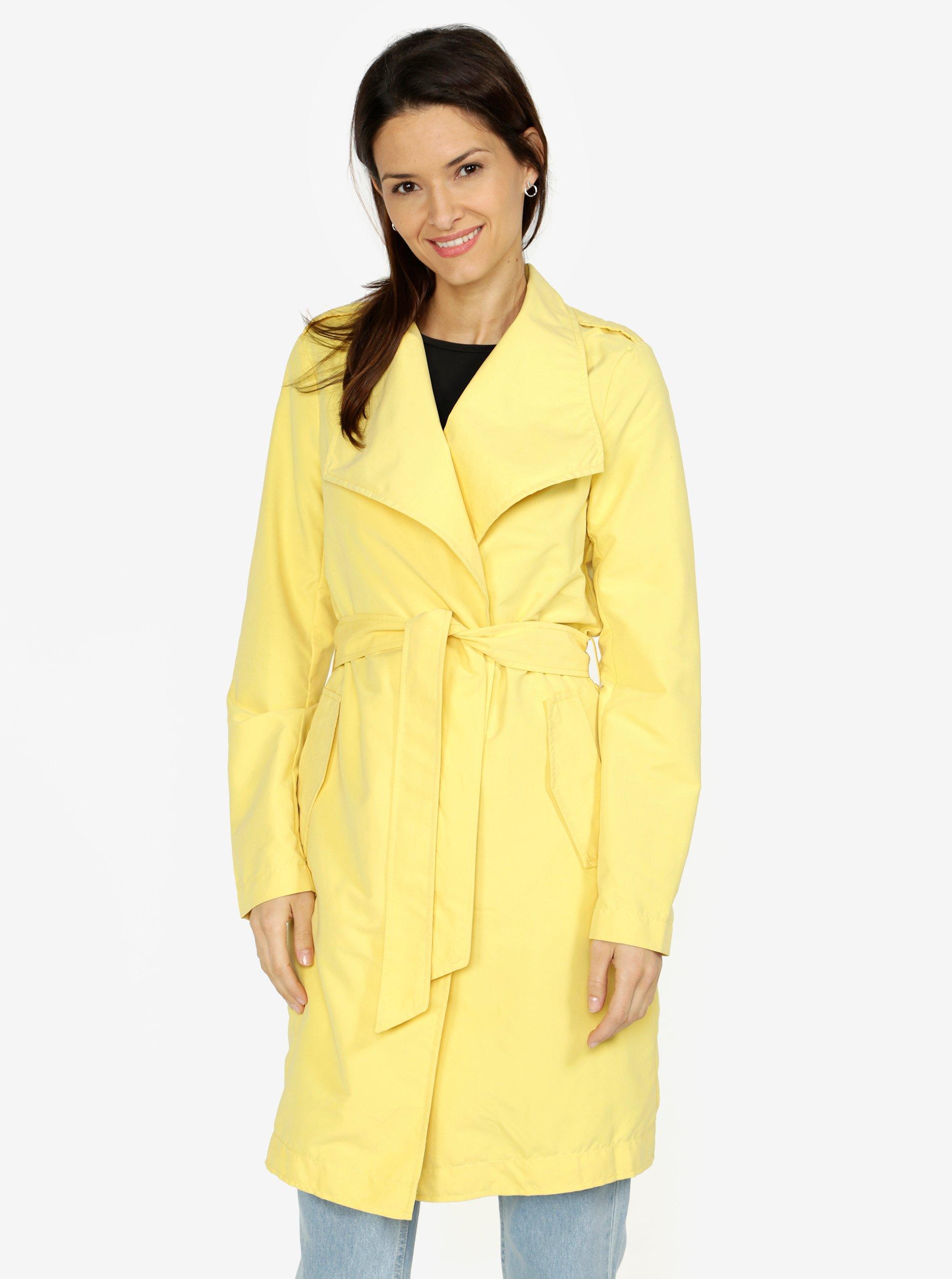 Žltý kabát VERO MODA Elina  2e088dd2fdc