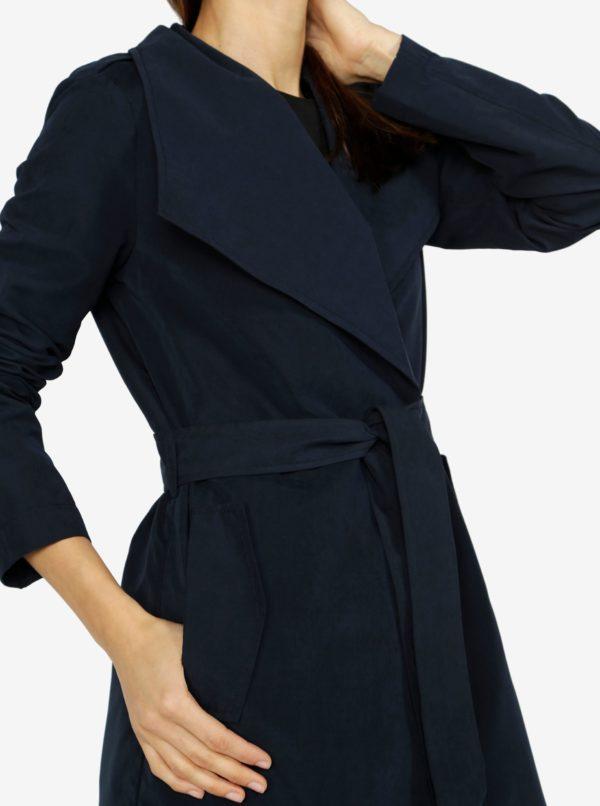 Tmavomodrý kabát VERO MODA Elina
