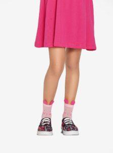 Ružové dievčenské silónové ponožky s motívom myšky Penti Pretty Felis 30 DEN