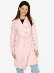 Ružový kabát VERO MODA Elina