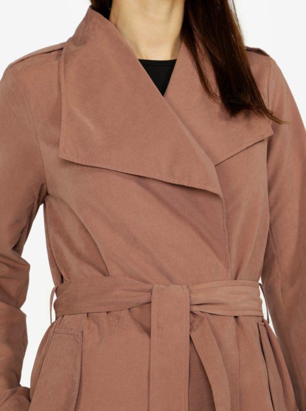 Hnedý kabát VERO MODA Elina