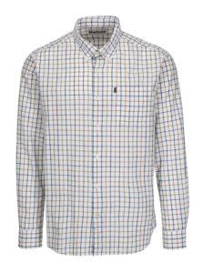 Modro-biela kockovaná tailored fit košeľa Barbour Henry