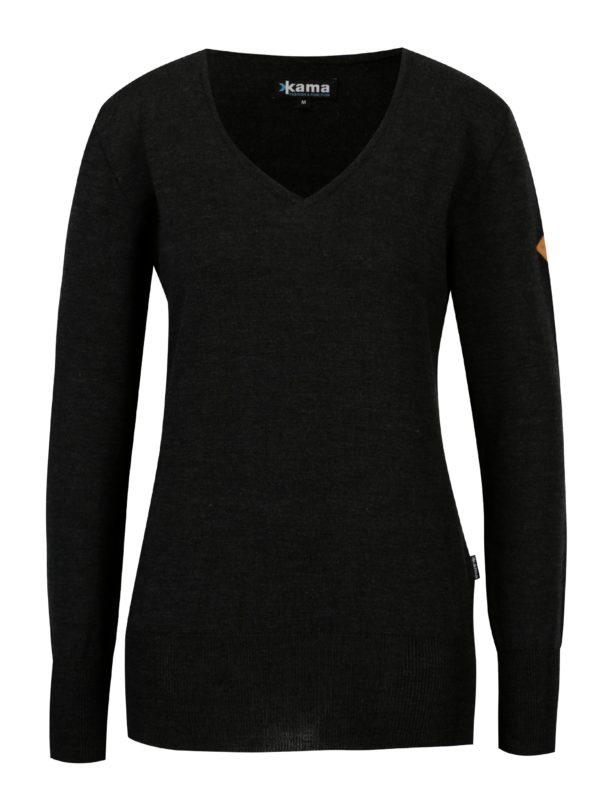 Tmavosivý dámsky sveter z Merino vlny Kama