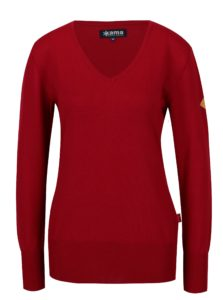 Čierny dámsky sveter z Merino vlny Kama